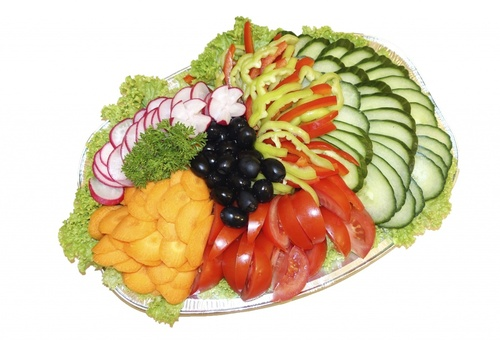Small vegetable platter