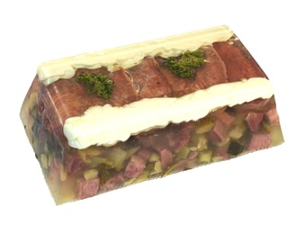 Beef tongue in aspic