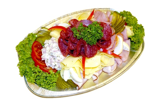 Large meats platter with vlas salad