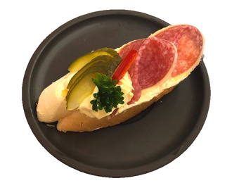 Mini sandwich - gourmet salami with cheese